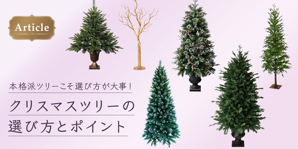 クリスマスツリーの選び方とポイント