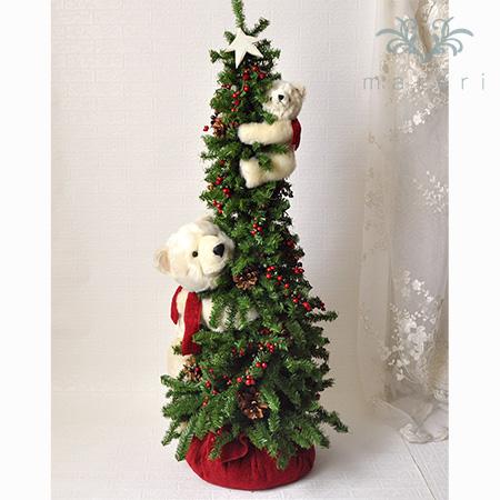 DITZ白くまクライミングクリスマスツリー110cm