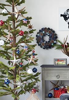 パインクリスマスツリー230cmの飾りつけ例