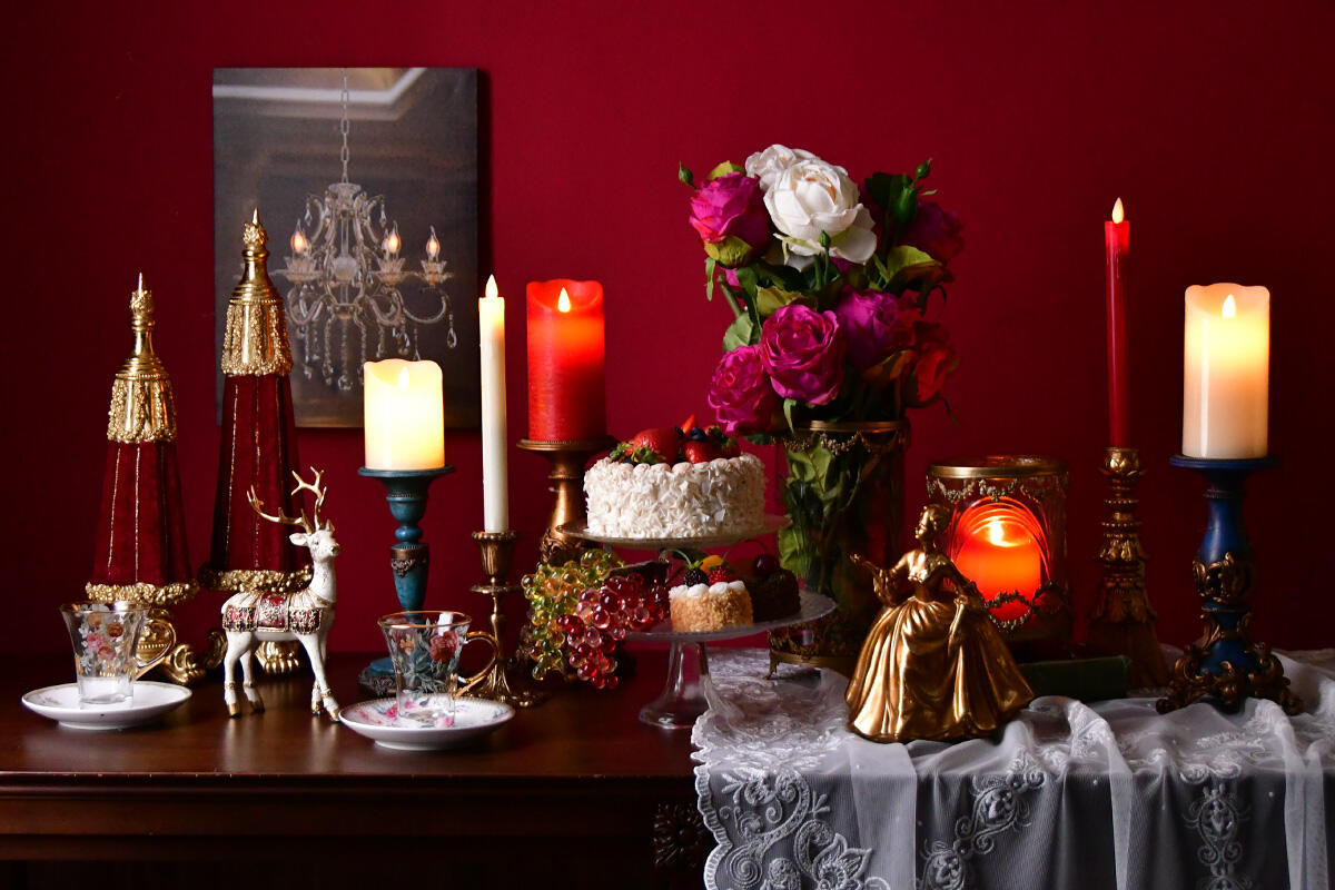 クリスマスインテリア 華やかで優雅なサロンスタイル